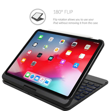 For iPad Pro11 Case with Wireless Bluetooth Keyboard Smart Tablet Auto Sleep Wake 360 Degree Rotatable Hard Shell Cover