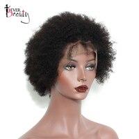 Короткие натуральные волосы Синтетические волосы на кружеве Боб Cut Парики Бразильский афро кудрявый вьющиеся Синтетические волосы на круж