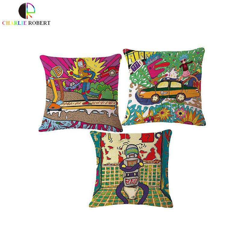 ᗕLos niños de dibujos animados hogar Ropa de cama sofá silla
