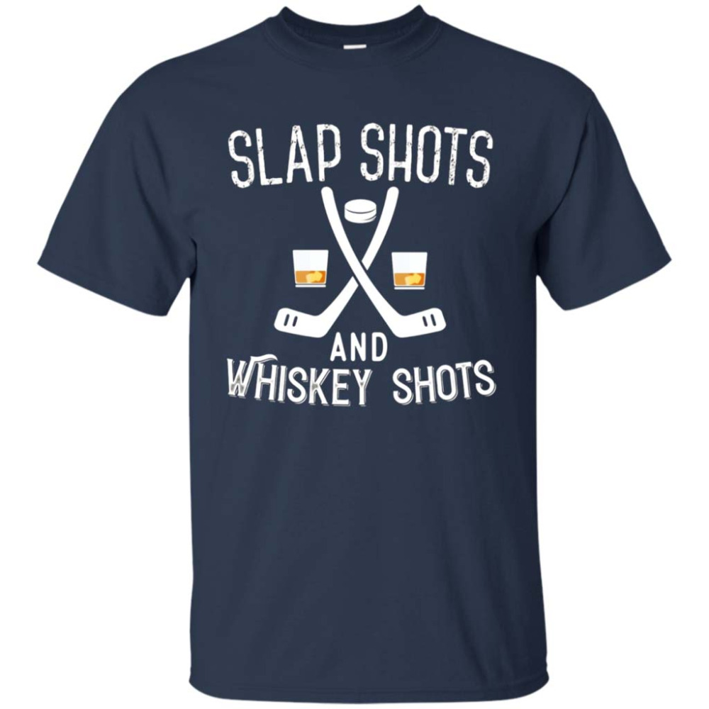 Create T Shirt Short Crew Neck Slap Shot And Whiskey Shots Funny Ice Hockeyer T-Shirt Fashion 2018 Mens Tee Shirts