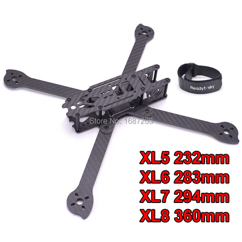 3K Full Carbon Fiber V2 XL5 232mm XL6 283mm XL7 294mm XL8 360mm True X 5 6 7 8 inch FPV Freestyle Frame w/ 4mm arm for RC Racing