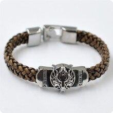 Game of Thrones Themed Leather Braided Bracelet for Men