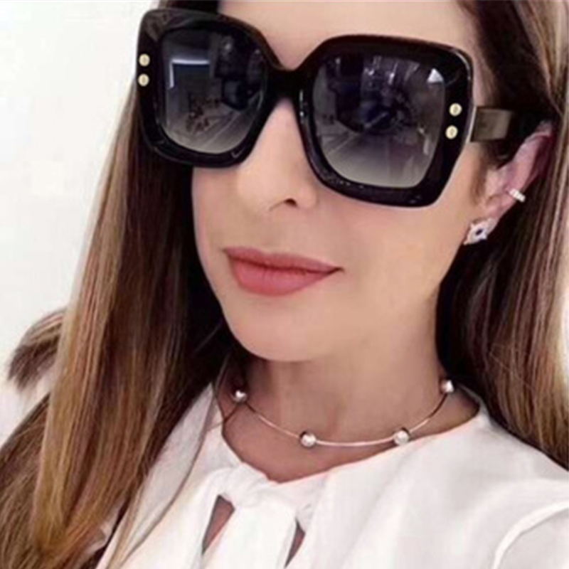 0e97be73a1 2018 Luxury Italy Oversized Square Sunglasses Women Retro Brand Designer  Sun Glasses For Female Ladies Black Eyewear 1175R-in Sunglasses from  Apparel ...