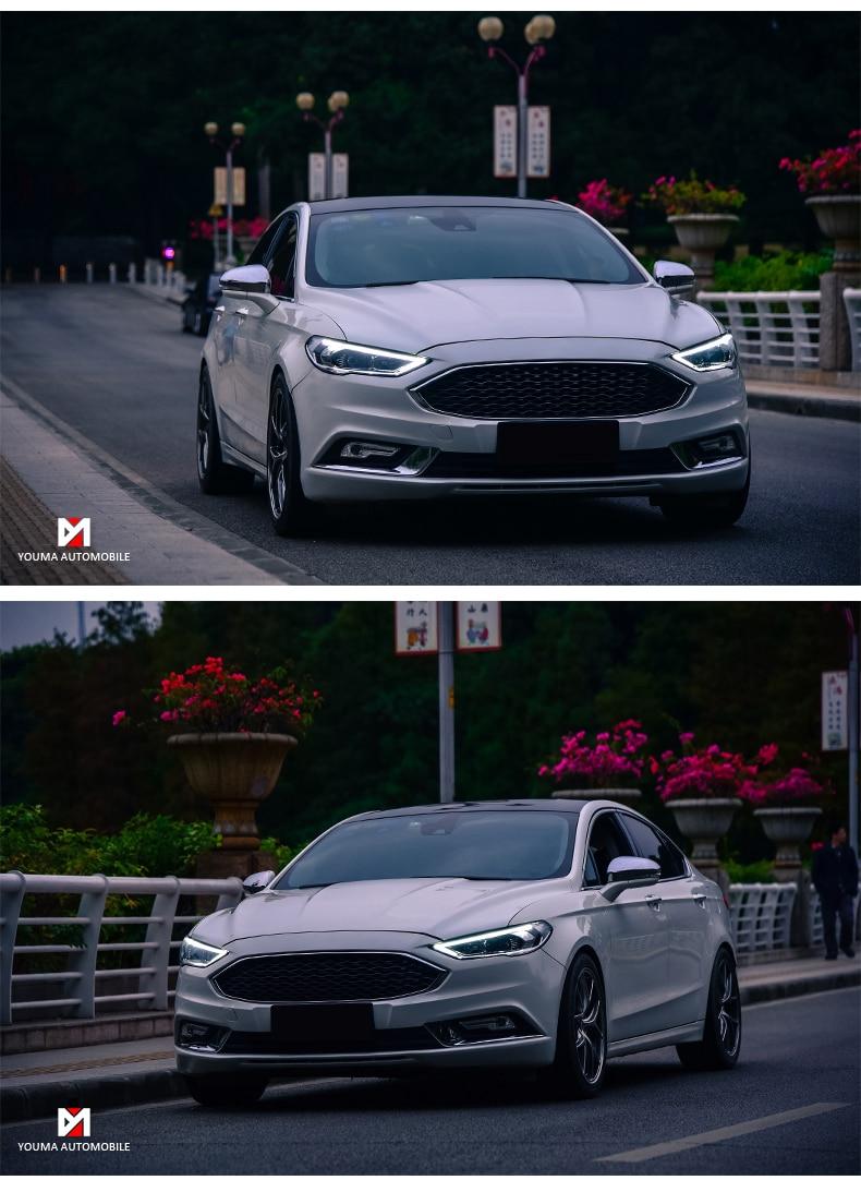 Style de voiture pour Ford Mondeo 2016-2018 phare LED + feu anti-brouillard + feu de pare-chocs arrière