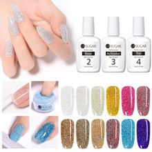UR SUGAR 5ml Holographic Dipping Nail Powder Set Glitter Pigment Dust Decoration Natural Dry Without Lamp Cure Manicure