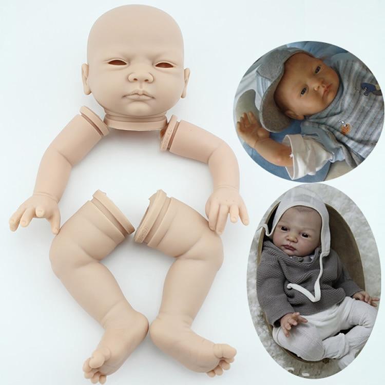 """20 /""""kit per neonati reborn non verniciati neonato con testa 3//4 braccia"""