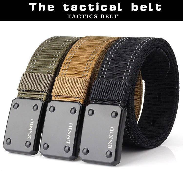 2019 NEW tactical belt Mens Tactical Belt Military Nylon Belt Outdoor multifunctional Training Strap Smooth Zinc alloy ceintures
