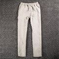 2017 белье брюки мужчины свободные в талии хлопка и льняные брюки С эластичной талией
