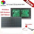 P10 одного синего открытый из светодиодов панель IP65 320 мм * 160 мм 32 * 16 пикселей