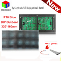 P10  single blue outdoor LED panel water proof IP65 320mm*160mm 32*16 pixel