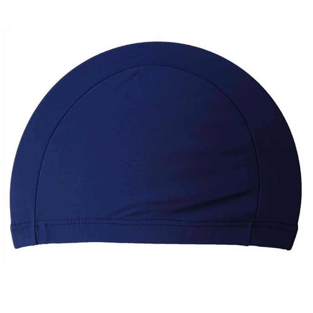 Bonnet de bain en Polyester pour protection oreilles longues, coupe de sport, sim, casquette de bain, ultra-mince, taille libre, pour hommes et femmes