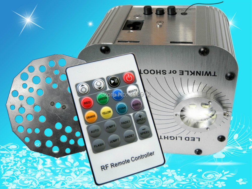 27w LED RGB fiber optic illuminator,with 20key RF remote and twinkle wheel;AC100-240V input lotte
