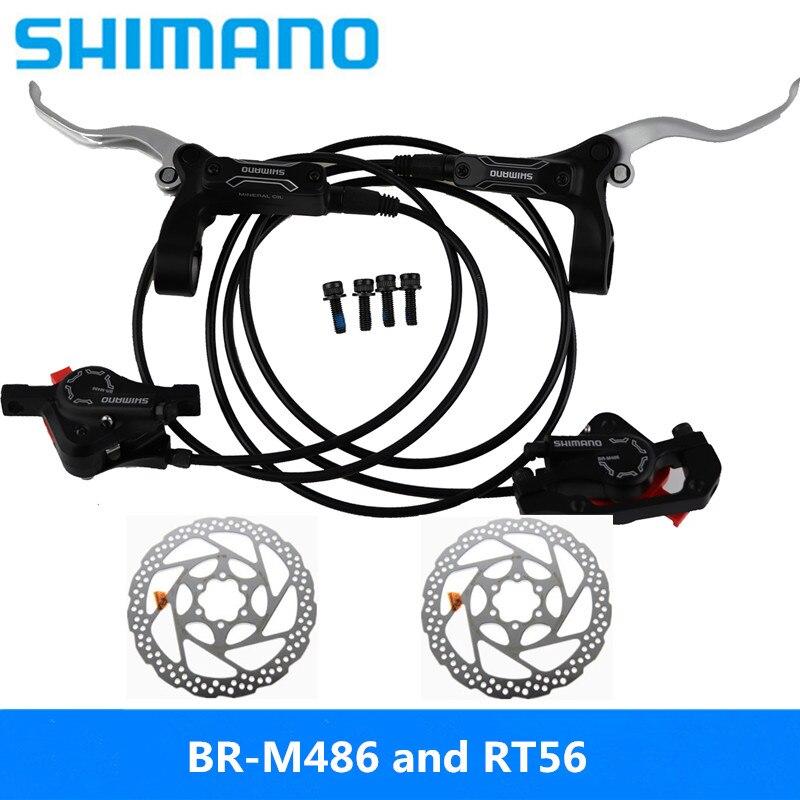 Black Shimano BR-BL-M446 M447 Hydraulic Brake set w// Avid HS1 Rotors 160mm