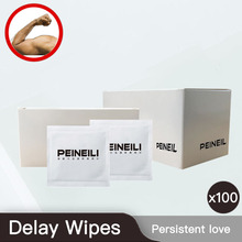 100 Pcs Male Delayed Wipes Natural Wet Sexual Extension Strong Ejaculation Enhancer Persistent gay sex
