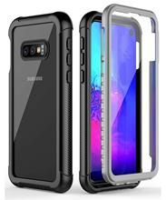 Full Body Protection Phone Case for Samsung Galaxy S8 S9 S10 S10e S10 Plus Note 9 Clear Shockproof Cover with Screen Protector