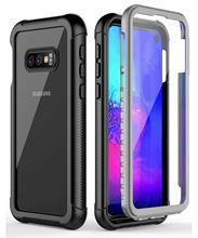 Proteção de corpo inteiro caso do telefone para samsung galaxy s8 s9 s10 s10e s10 plus nota 9 claro à prova de choque capa com protetor de tela