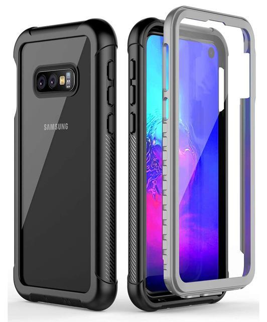 מלא גוף הגנת טלפון מקרה לסמסונג גלקסי S8 S9 S10 S10e S10 בתוספת הערה 9 ברור עמיד הלם כיסוי עם מסך מגן