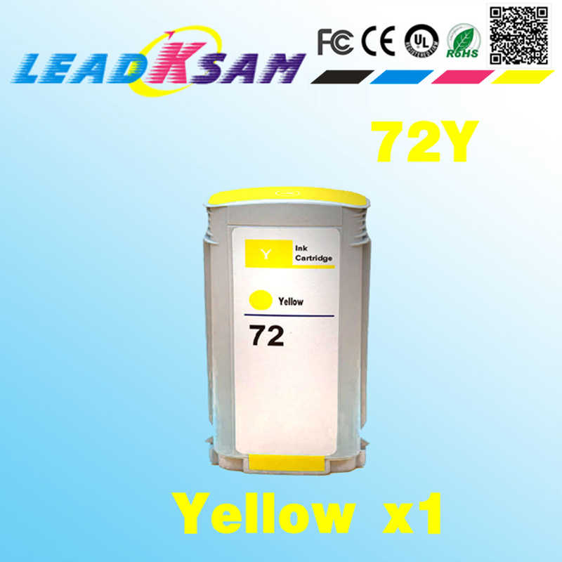 Untuk 72 Yellow Ink Cartridge Kompatibel untuk HP72 C9373A Designjet T1100 T1100S T1100MFP T610 T770 T790 T1120PS T1120 Printer