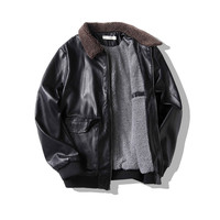 Lamb Wool Collar Temperament Leather Clothing Increase Down Thickening Leather Clothing A308 PY01 P110 Special Control 128