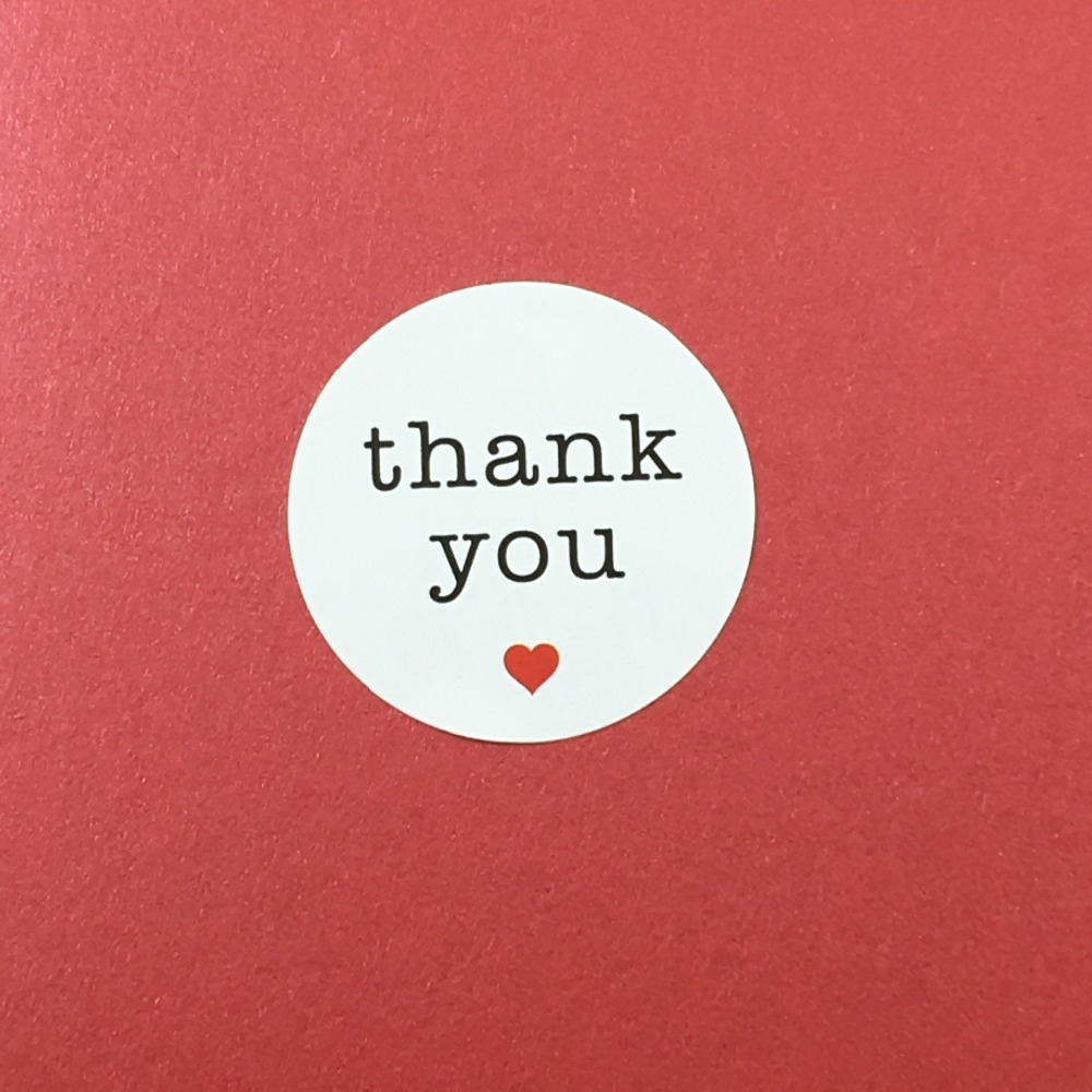 Free Shipping 600PCS/Lot THANK YOU Within Red Heart for kids Home Label Stickers Seal On laptop/Gift/ Wedding Label/Jewelry