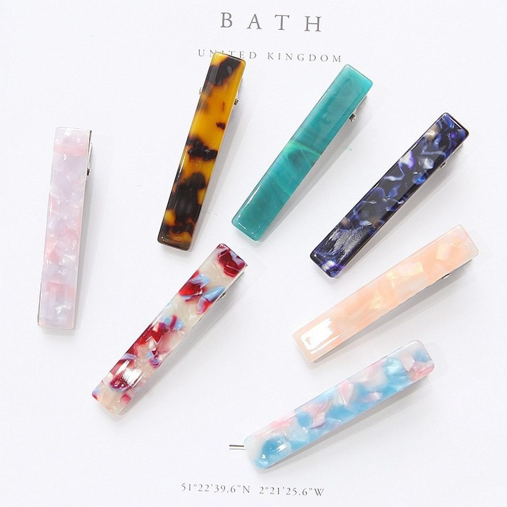 Fashion Vintage Leopard Hair Clips For Women Girls Cute Resin Acetate Hair Pins Headwear Barrettes Hairgrips Hair Accessories
