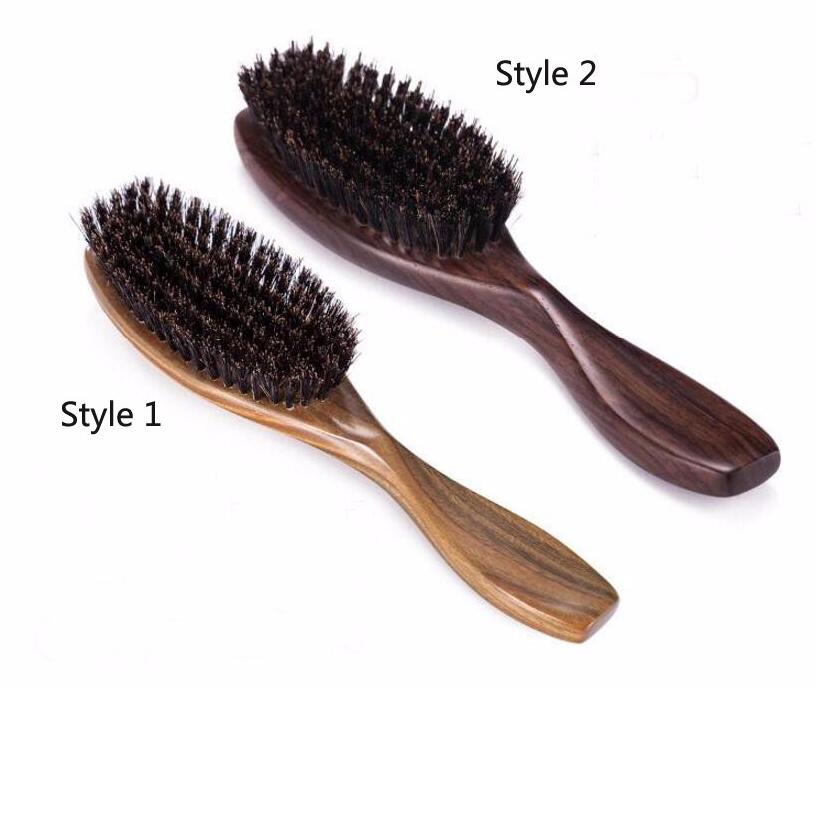 Wood Hair Brush Sandalwood comb Wooden Hair Brushes Paddle Hair comb Hair Extension Brush J19 1pc wooden massage comb natural wild boar bristles wooden comb hair brush green sandalwood handle brosse hair care comb de14