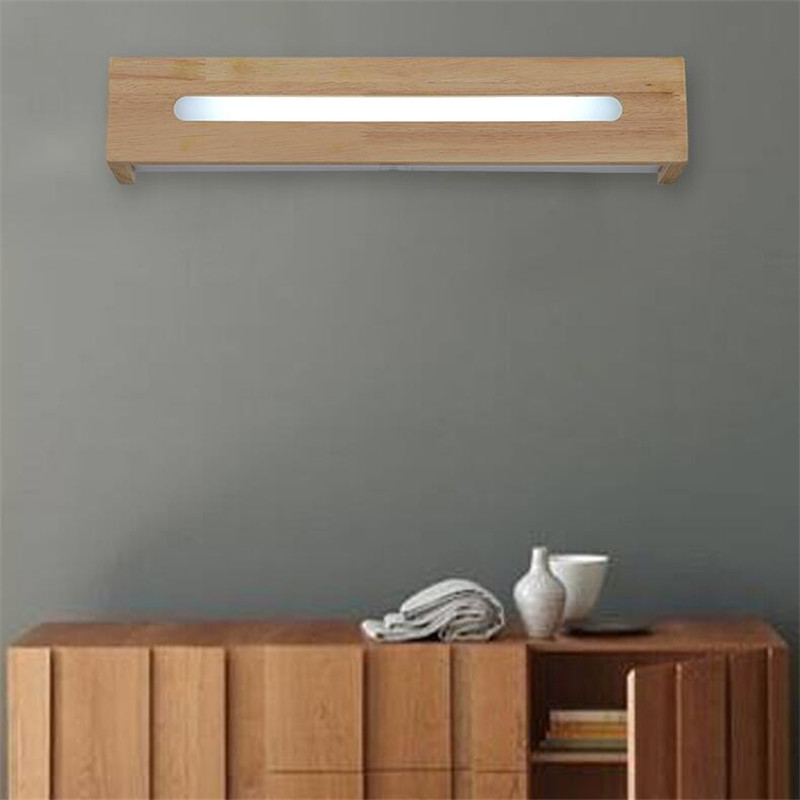 Modern Brief Europe Wood Acryl Led Wall Lamp for Bedroom Aisle Stair Bathroom Porvh Light L 35/45/50cm AC 80-265V 1448 modern minimalist waterproof antifog aluminum acryl long led mirror light for bathroom cabinet aisle wall lamp 35 48 61cm 1134