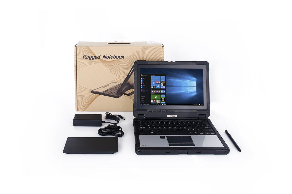 "Купить с кэшбэком Rugged Laptop Computer Military Mobile 10 Pollice Tablet PC Tough Windows 11.6"" Intel skylake 8G RAM RS232 with Stylus Keyboard"
