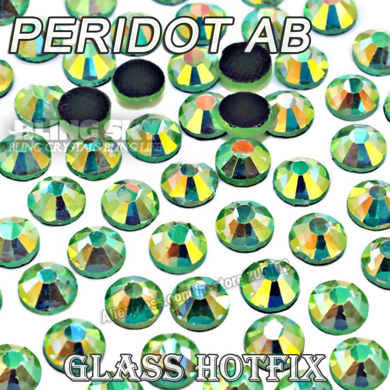 Peridoto AB gran paquete caliente arreglar diamantes de imitación SS6 SS10 SS16 SS20 SS30 DMC plana cristales brilla piedra strass para DIY de prendas de vestir-in Diamante de imitación from Hogar y Mascotas    1