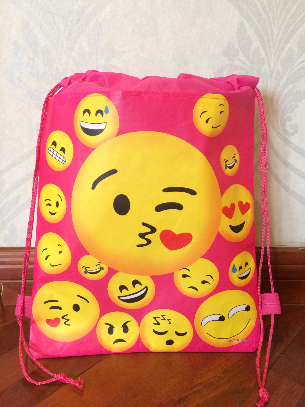 zoo animal sweetheart backpack Toddler pouch non-woven string shoe shourlder school bag for boy and girls birthday party gift