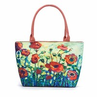 Summer Canvas Tote Bags Women Colorful Floral Printed Shoulder Handbags Lady Large Capacity Female Canvas Beach