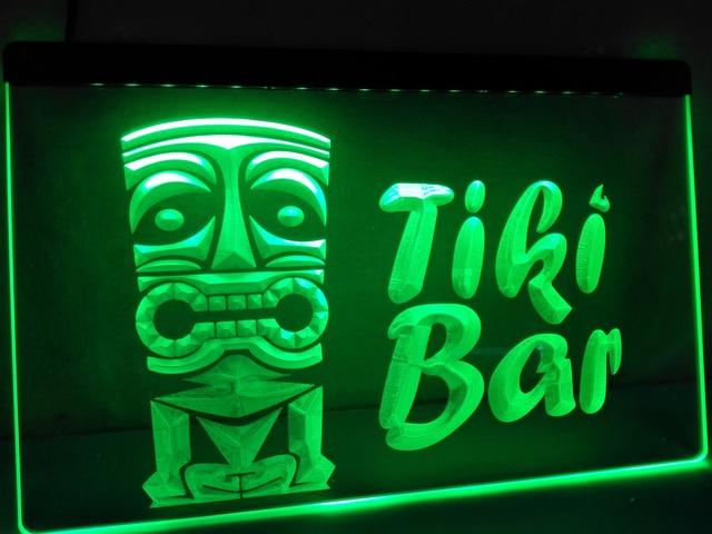 Lb298 new best tiki bar mask pub club led neon light sign home best tiki bar mask pub club led neon light sign home decor aloadofball Image collections