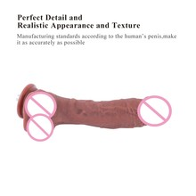 Sex machine Add on attachment coffee FDA-grade Silicone Dildo 26cm diameter 4.5cm Safety Non-toxic Realistic Dildo