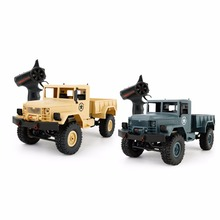 WPL B1 Mini Off-Road RC Military Truck 1:16 Crawler Car With Light Bright LED  RTR Toy Drive Metal Remote Control RC Toy Cars