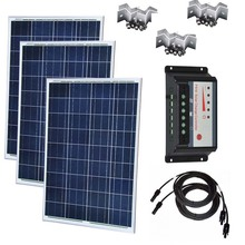 Solar Kit 300w Panel  12v 100w 3Pcs Charge Controller 12v/24v 30A Battery Charger Camping Caravan Car Rv Roof
