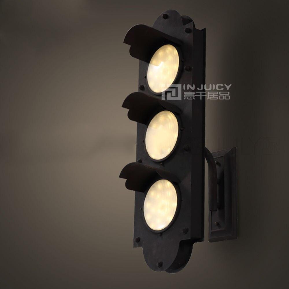 Industrial Retro Vintage Edison Bulbs Wall Sconce Light Traffic Light Mechanical Cafe Bar Store E27 Base Led Bedroom Wall Lamp
