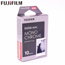 Оригинал Fujifilm 10 листов Instax Mini MONO хром мгновенная пленка фотобумага для Instax Mini 8 7 s 25 50 s 90 9 SP-1 SP-2 камеры