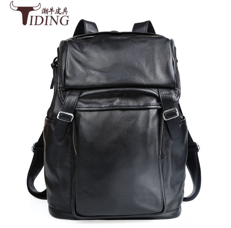 Genuine Leather Men Backpack 2017 new Large Capacity Man Travel Bags High Quality Trendy Business Bag For Man Leisure Laptop Bag
