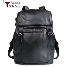 Genuine Leather Men Backpack 2017 new Large Capacity Man Travel Bags High Quality Trendy Business Bag For Leisure Laptop