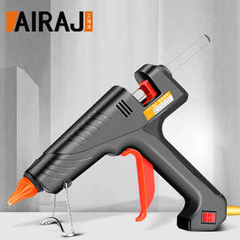 AIRAJ 400W Industrial Grade Hot Melt Glue Gun, Give 10 Glue Sticks for Household DIY Hand-made Adhesive Tools - DISCOUNT ITEM  49% OFF All Category