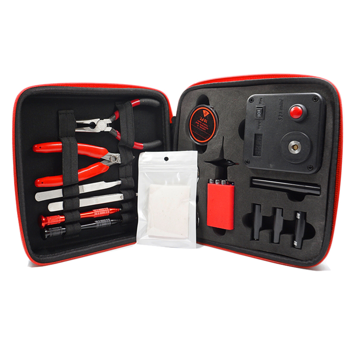 Brand New Update Coil Master V3 DIY Kit All-in-One CoilMaster V3+ Electronic Cigarette RDA Atomizer coil tool bag Accessories original geekvape 521 master kit v3 all in one kit with the most functional tools and accessories e cig vape 521 master kit v3