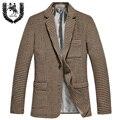2016 nwe chegada do inverno de lã fino terno único vestuário de moda dos homens jaqueta para o tamanho plus S M L XL XXL 3XL 4XL 5XL
