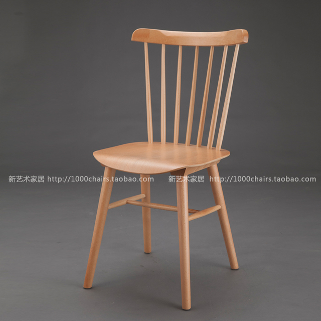 Windsor Chairs Wood Chairs Chair Scandinavian Armchair Fashion Designer  Model House Romantic French Furniture