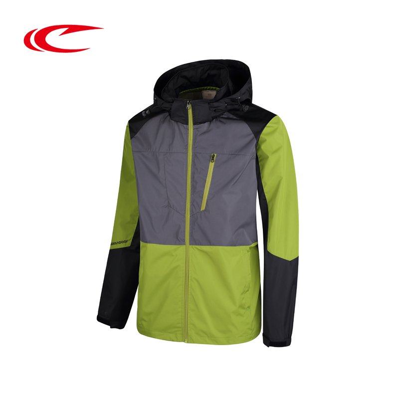 SAIQI Men Hooded Running Jacket Windproof Stitching Style Running Coats Hooded Sport Jackets Outdoor Running Camping Sport Wear цена и фото