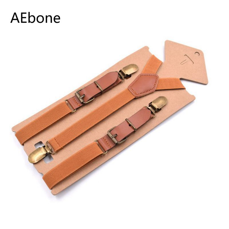 AEbone Suspensorio Adult Suspenders Men For Pants Vintage Brown Leather Men Suspenders Black Bretelles Pantalon Pour Homme Sus67