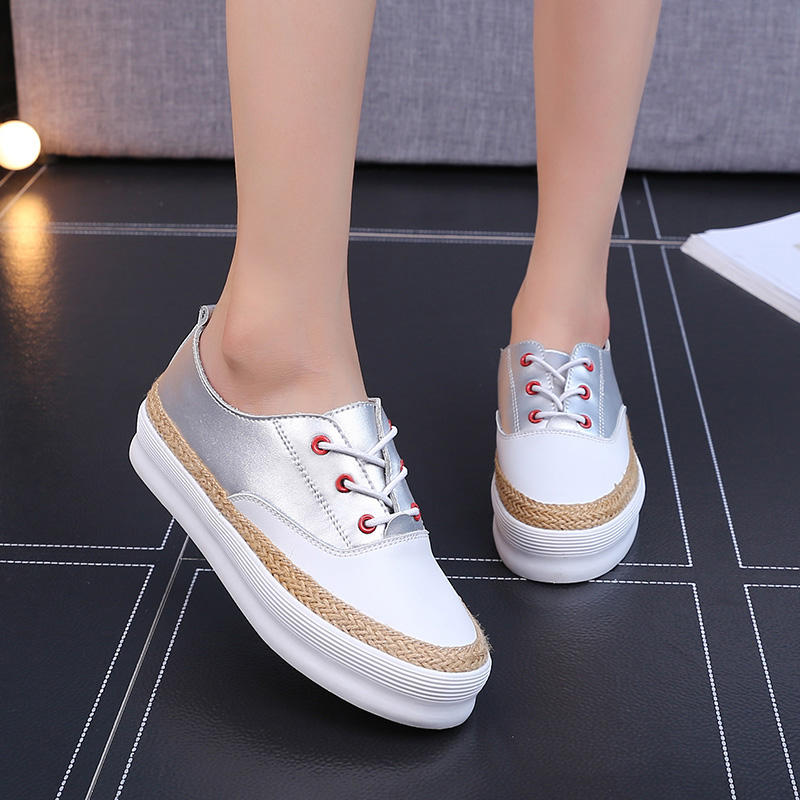ФОТО New 2016 Autumn Casual Flats Shoes Women Round Toe Ladies Lace Up Moccasins Pregnant Creepers Espadrilles Chinese Designer Shoes