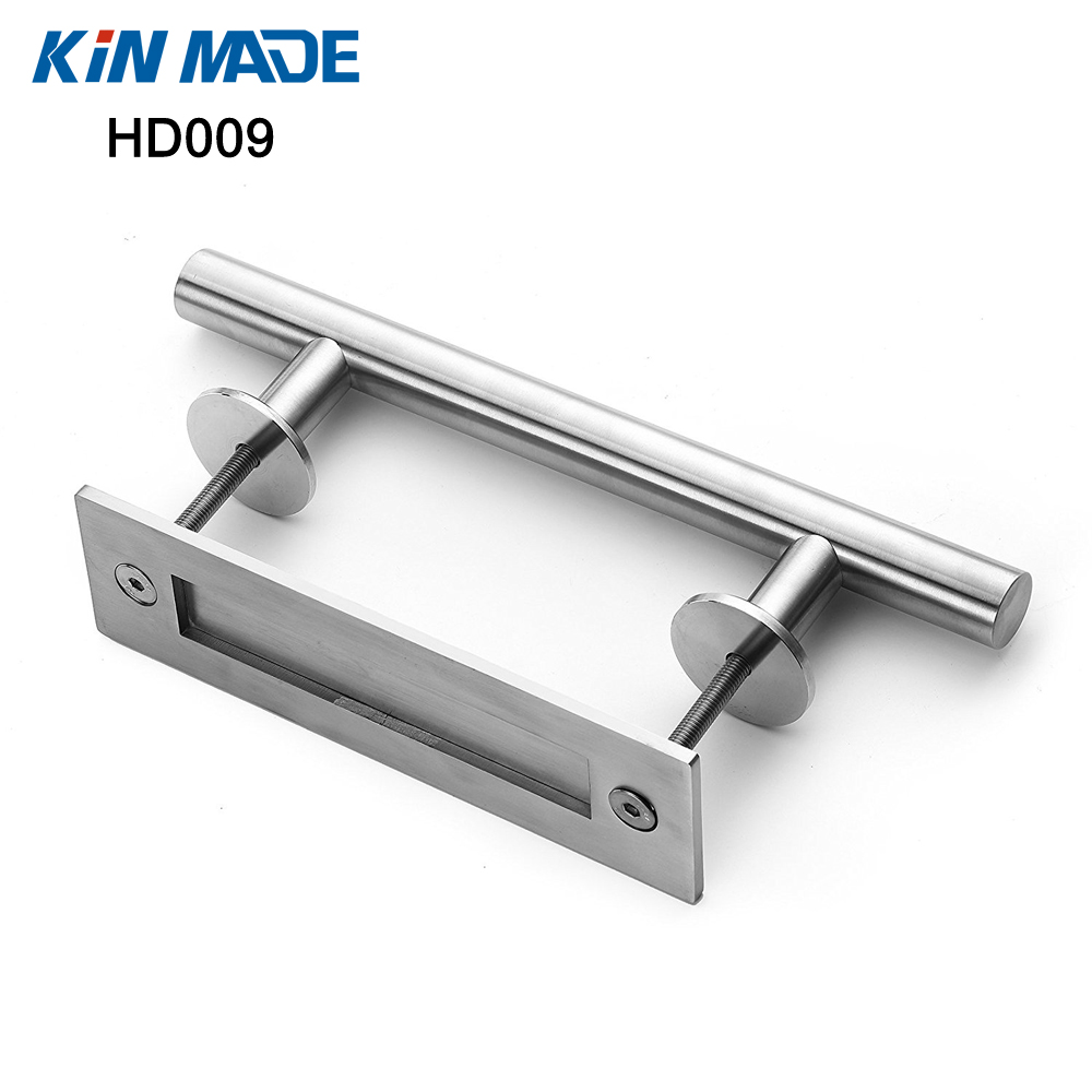цена на KIN MADE Stainless steel Sliding Barn Door Handle Wood Door Flush Pull
