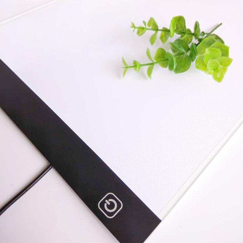 Ultradünne 3,5mm A4 FÜHRTE Licht Tablet Pad gelten EU/UK/AU/US/Usb-stecker diamant Stickerei Diamant Malerei Kreuzstich werkzeug-sets