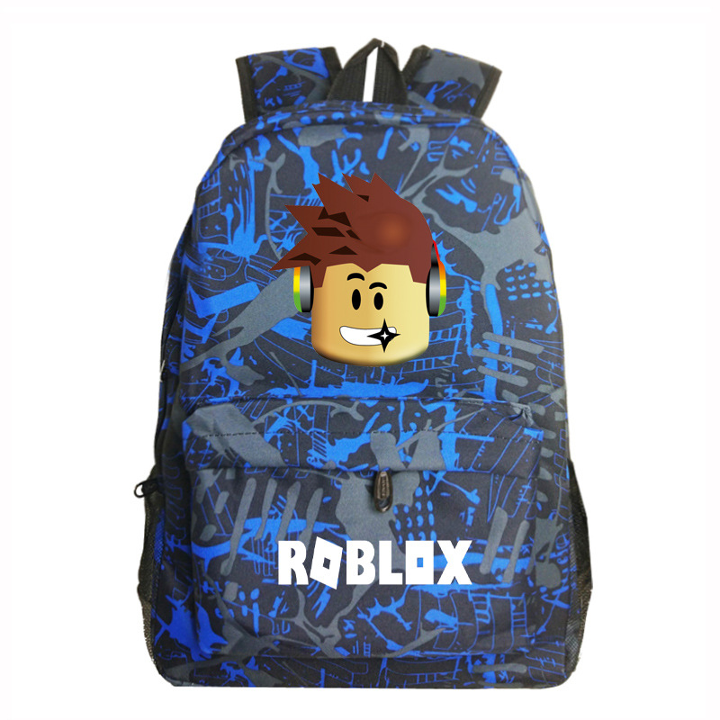 Roblox Game Boy School Bag  Backpack Student Book Bag Notebook Daily Backpack Mochila Boys Girls Gift #4