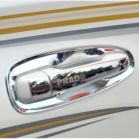 8 PCS Stainless Steel Door Handle Styling Cover Protection Trim For Toyota Land Cruiser Prado FJ150